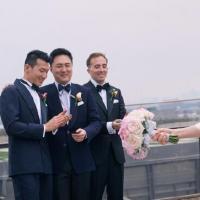 朱珠分享婚礼现场照片感谢大家祝福 幸福十足